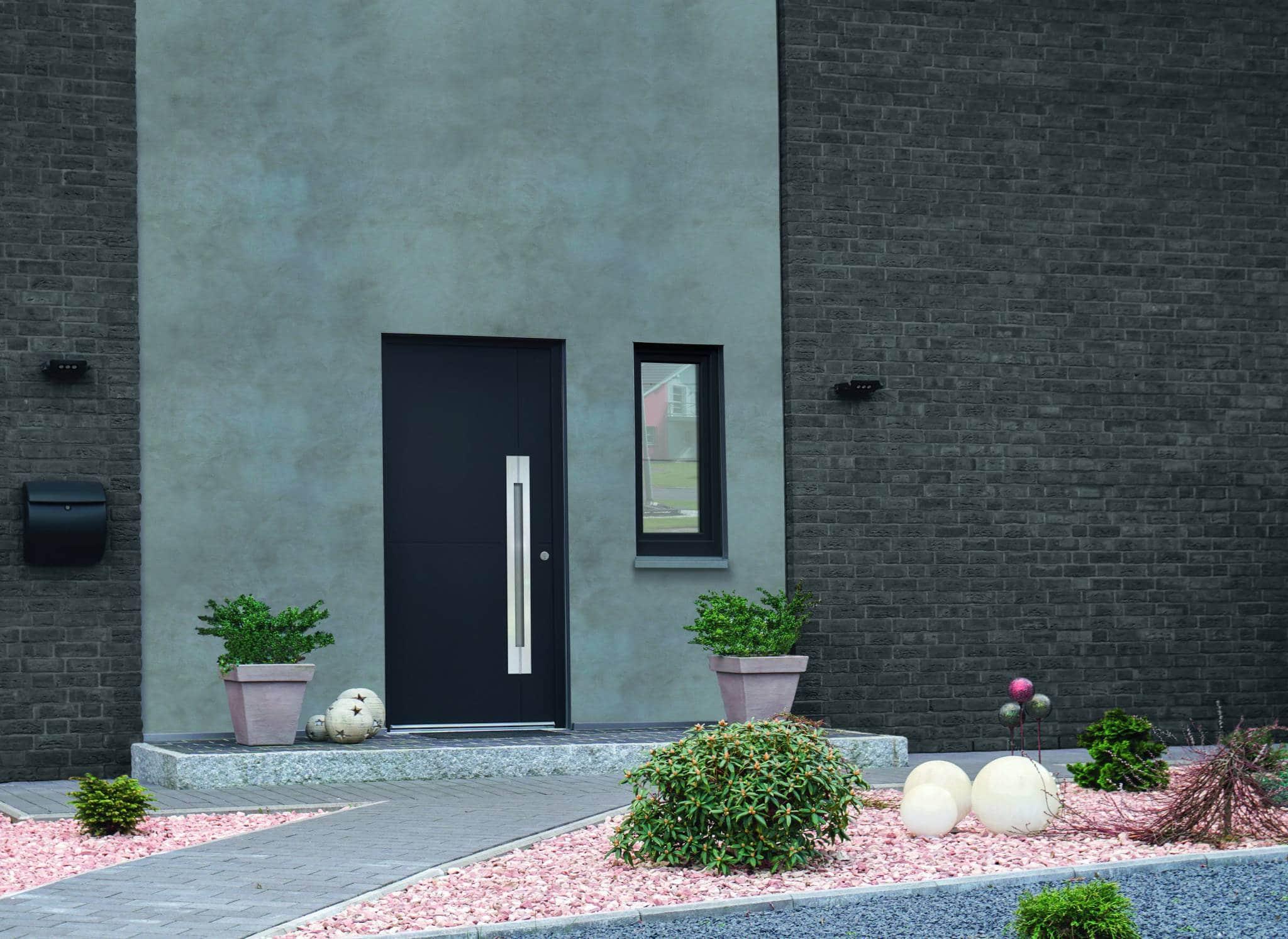 porte d entr e alu personnalisable sur mesure solabaie. Black Bedroom Furniture Sets. Home Design Ideas