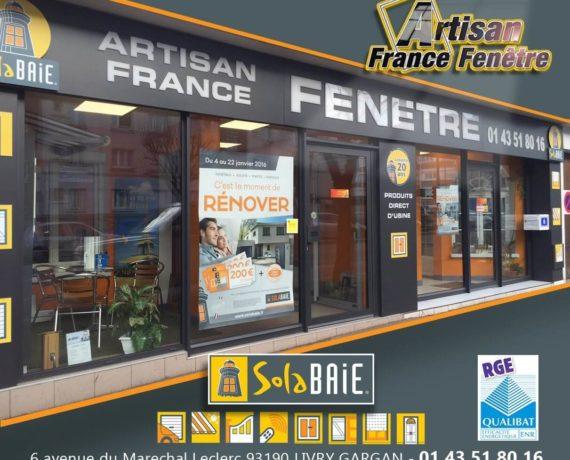 Artisan France Fenêtre votre magasin Solabaie à Livry-Gargan 93