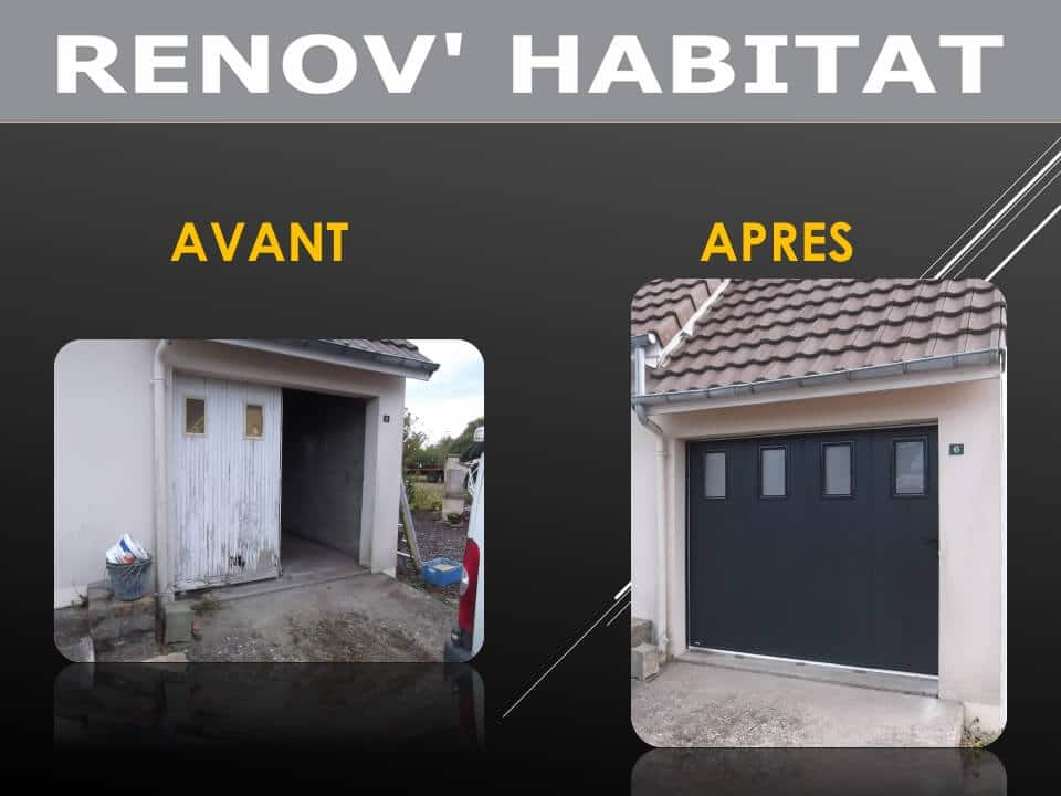 Installation d 39 une porte de garage d placement lat rale for Porte garage ouverture laterale