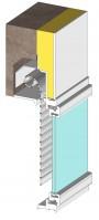 Furtif, volet roulant 1/2 linteau incorporé à la menuiserie (Construction)
