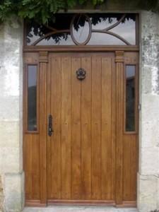 Fabrication Sur Mesure Porte Entree Bois Ancienne Belle Porte Entree