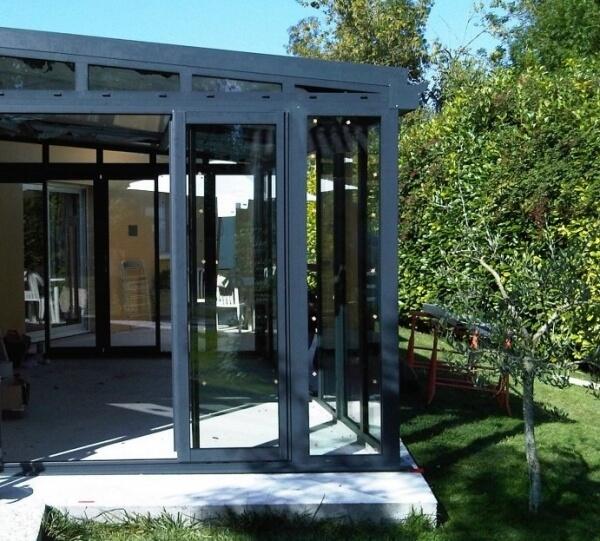 V randa style atelier r alisation de la menuiserie solabaie niort - Veranda gris anthracite ...