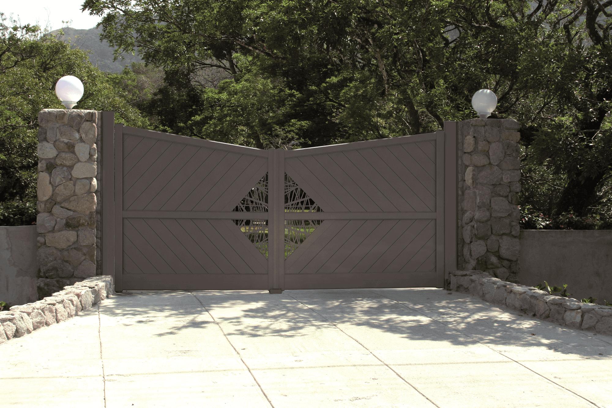 fabrication et installation de portails en aluminium solabaie. Black Bedroom Furniture Sets. Home Design Ideas