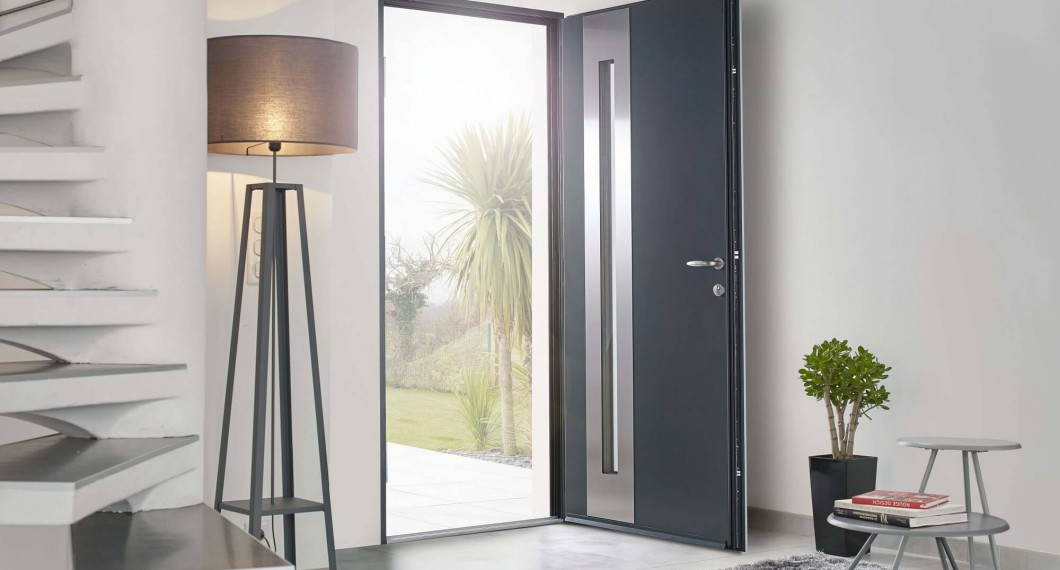 Large choix de portes d 39 entr e cr ation sur mesure solabaie for Porte 2 battants interieur