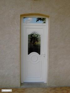 porte d 39 entr e pvc s curit avec imposte vitr r alisation de la menuis. Black Bedroom Furniture Sets. Home Design Ideas