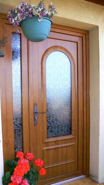 Porte DEntre En Pvc Plax  Ralisation De La Menuiserie Solabaie