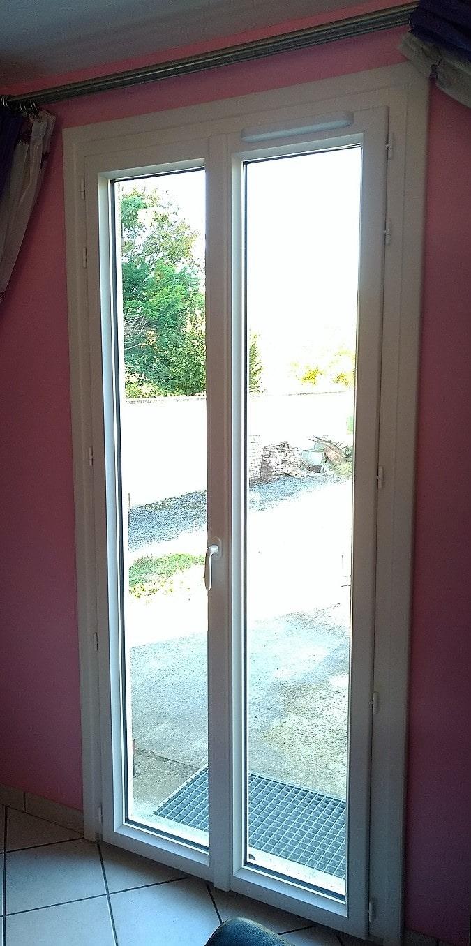 Porte Fenetre Composium Pvc Blanc Ouverture Francaise Deux Vantaux