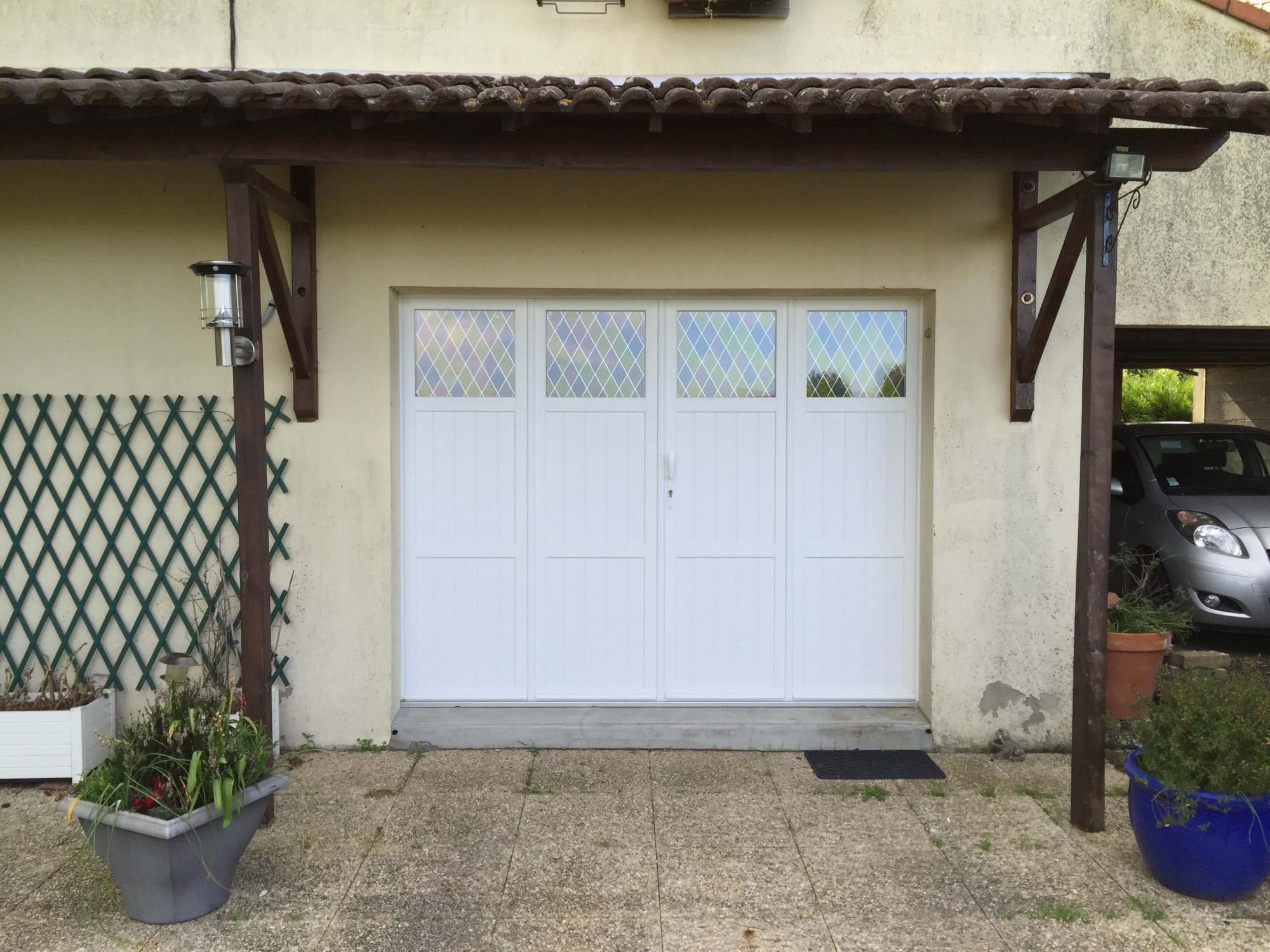 Les r alisations en menuiserie de solabaie poitiers - Porte de garage pvc blanc ...