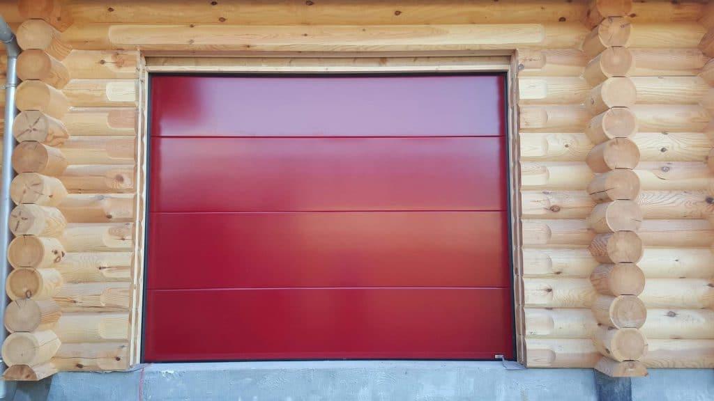 Renov 39 habitat pose d 39 une porte de garage sectionnelle - Prix d une porte de garage sectionnelle avec portillon ...