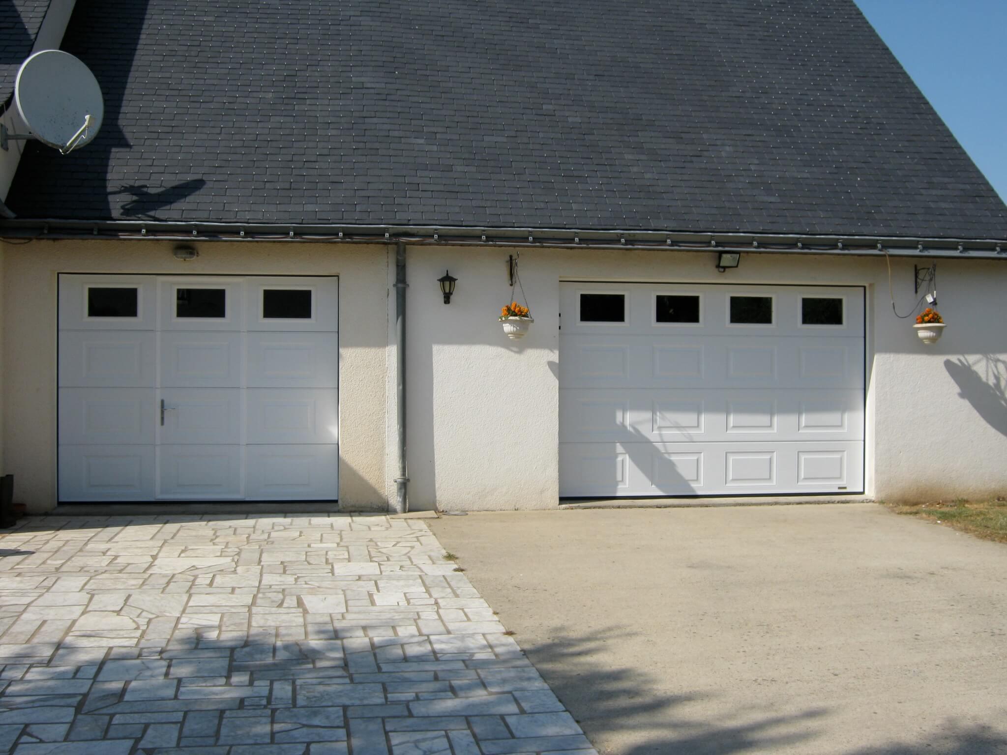 Les r alisations en menuiserie de belles baies rennes - Porte de garage anthracite ...