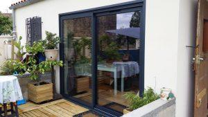 r novation d 39 une baie vitr e aluminium ral 7016 par solabaie rochefort 17. Black Bedroom Furniture Sets. Home Design Ideas