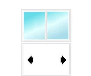 2 vantaux pour un refoulement des deux côtés