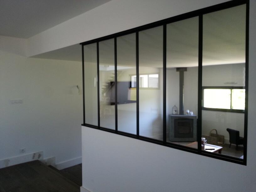 Baie vitrée verrière - Installation par Pelluau Menuiserie