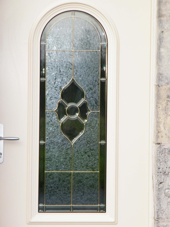 Porte d 39 entr e aluminium avec vitrage fleurs solabaie - Porte d entree standard ...