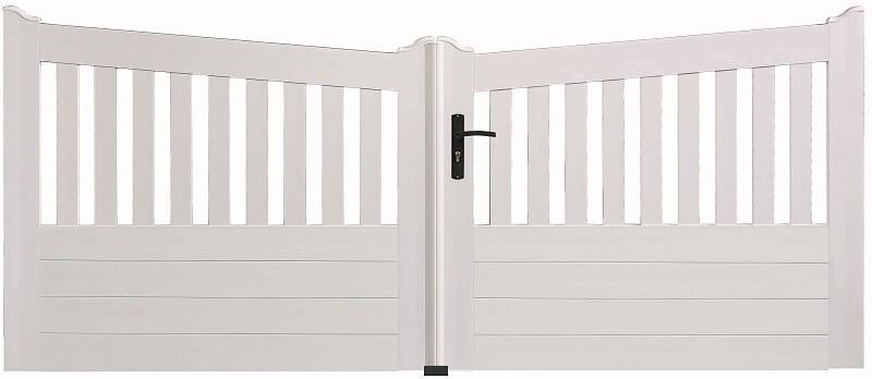 portail pvc sur mesure devis portails pvc solabaie. Black Bedroom Furniture Sets. Home Design Ideas