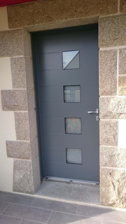 Porte D 39 Entr E En Aluminium Mod Le Becker R Alisation Solabaie Chatelaudren