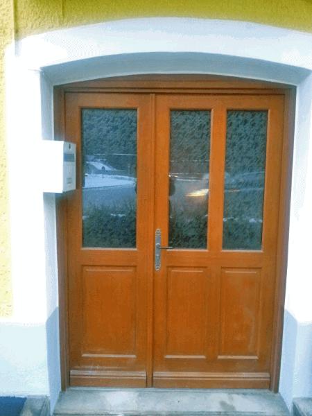 Porte d 39 entr e tierc e en bois avec vitrage solabaie for Porte entree large