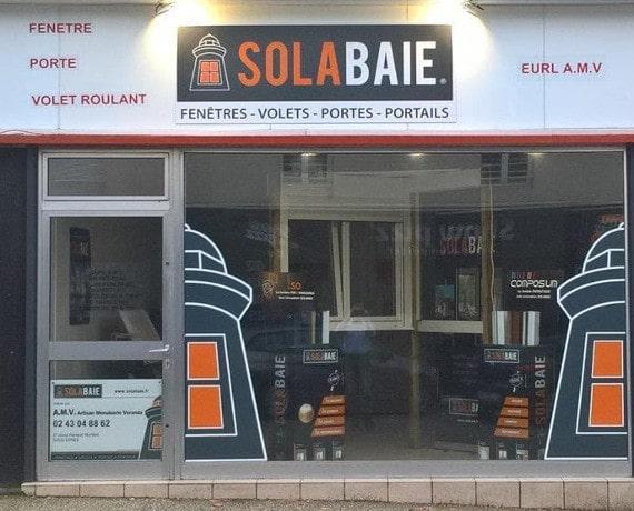 Devanture du magasin de votre installateur Solabaie AMV
