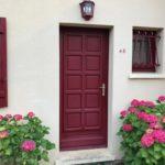 Ancienne porte d'entrée en bois