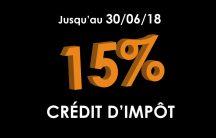 Profitez-en, le crédit d'impôt sur nos menuiseries sur-mesure et fabriquées en France dure jusqu'au 30 Juin 2018 inclus.