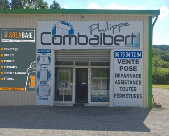 Devanture du magasin de votre installateur Combalbert Philippe, pour la pose de vos fenêtres, portes, volets et portails