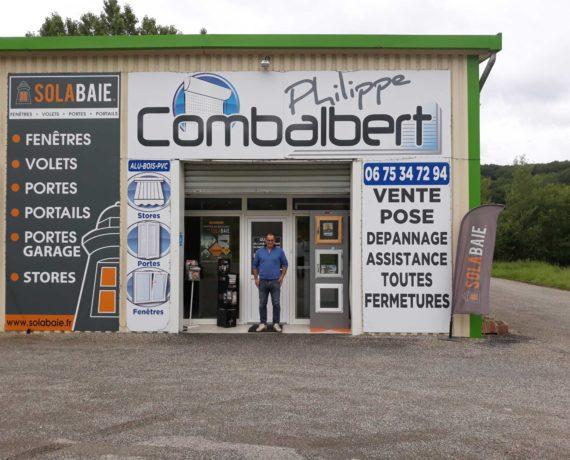 Facade du magasin solabaie Combalbert pour la pose de vos fenetres , portes & volets près de Montauban