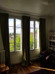 Réalisations de Solabaie Saint-Ouen-l'Aumône : Fenêtres PVC blanches en arc surbaissé