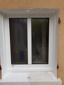 Réalisations de Solabaie Saint-Ouen-l'Aumône : Fenêtre SO mixte finition extérieure alu blanc