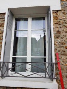 Réalisations de Solabaie Saint-Ouen-l'Aumône : Fenêtres bois blanches à petits bois