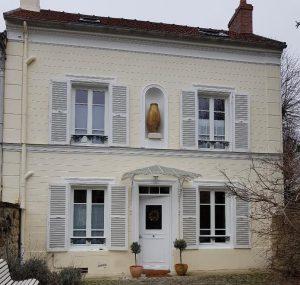 Réalisations de Solabaie Saint-Ouen-l'Aumône : Fenêtres bois blanches traditionnelles