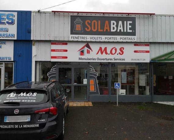 Facade du magasin de menuiserie Solabaie MOS