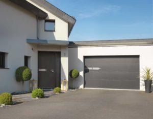 Portes d'entrée et de garage de la collection coordonnée Solabaie