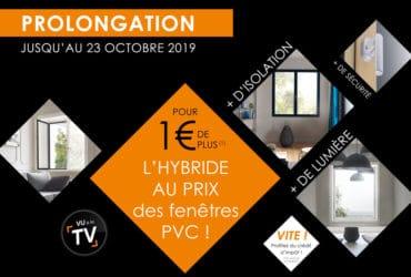 Solabaie prolonge son offre promotionnelle sur ses fenêtres Hybrides jusqu'au 23 octobre 2019