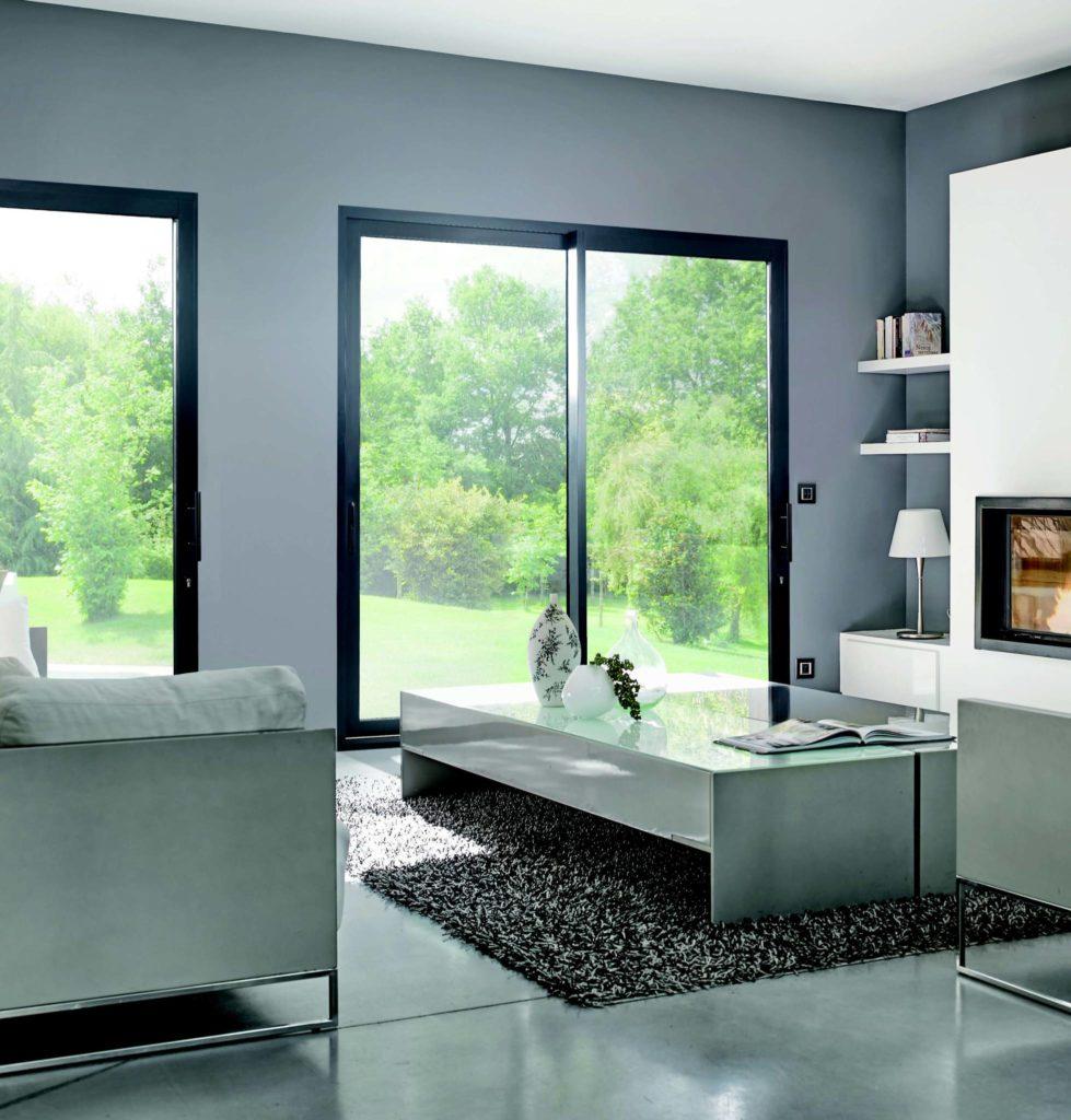 Intérieur baies vitrée aluminium SO
