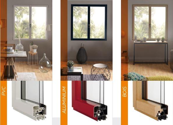 Matériaux composant fenêtre hybride