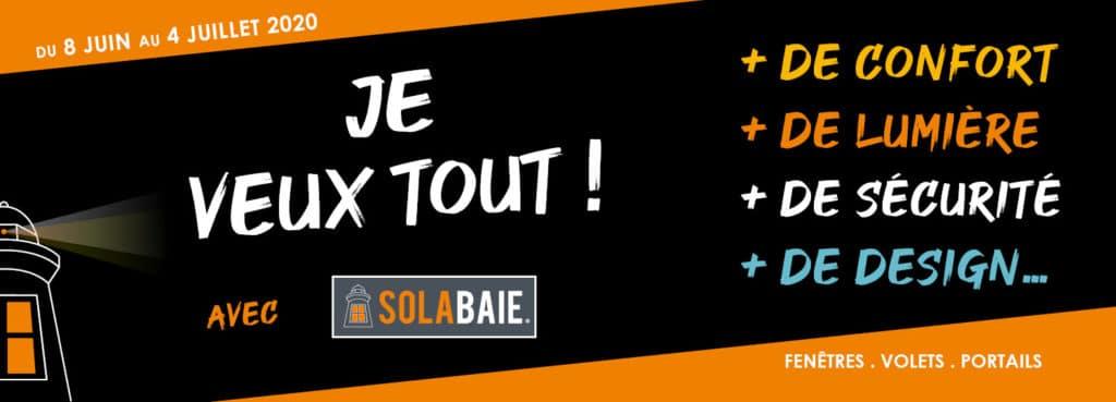 Le mois des offres promo chez Solabaie : Sur les fenêtres, les volets et les portails.
