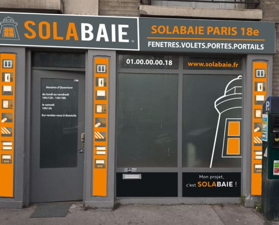Façade du magasin Solabaie de RONA situé à Paris 18ème